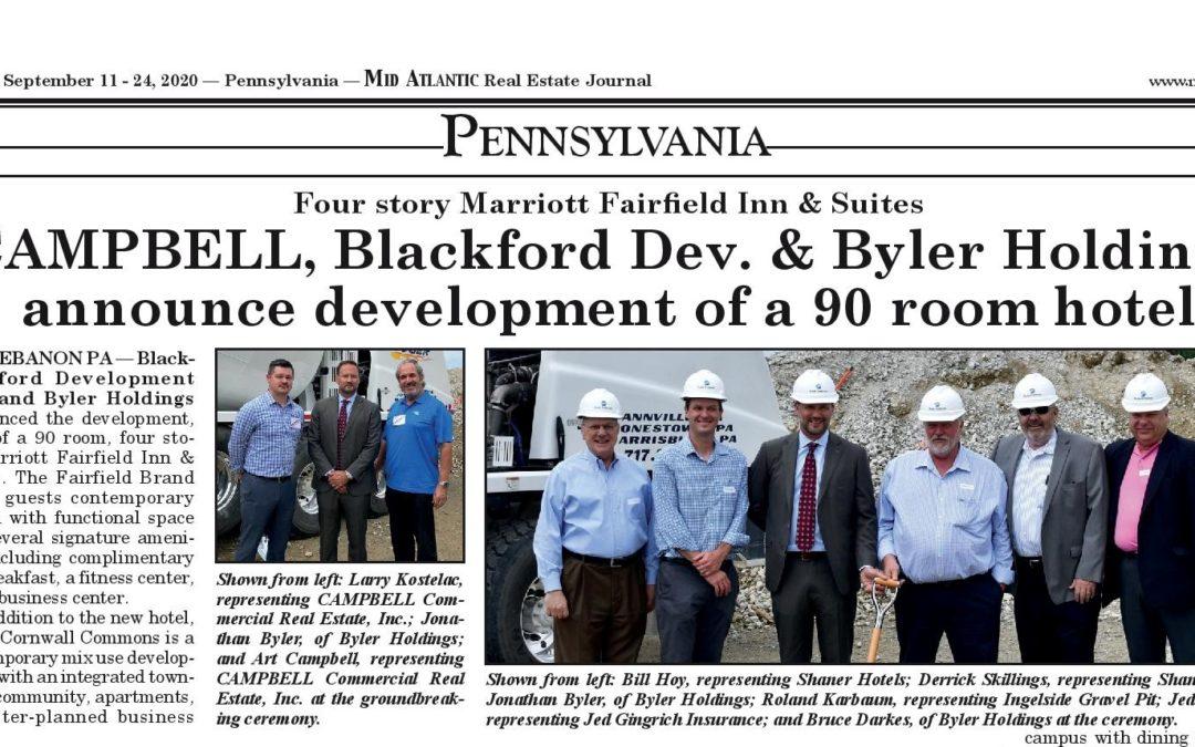 Mid Atlantic Real Estate Journal: CAMPBELL, Blackford Dev. & Byler Holdings announce development of a 90 room hotel